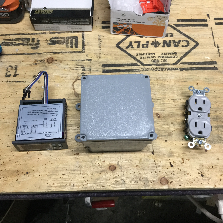 Homebrew Fermentation Temperature Control Geoff Nicol Diy Project Dual Stage Controller Stc1000 Programming Header Parts